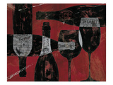 Wine Selection III Red Giclee Print by Daphne Brissonnet