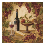 Wine and Cheese II Print by Silvia Vassileva
