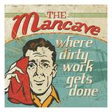 Mancave III Premium Giclee Print by  Pela