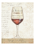 Wine by the Glass I Premium Giclee Print by Daphne Brissonnet
