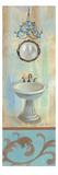 French Bathroom in Blue II Premium Giclee Print by Silvia Vassileva