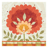 Ikat Bloom II Giclee Print by Sue Schlabach