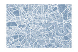 London England Street Map Premium Giclee Print by Michael Tompsett