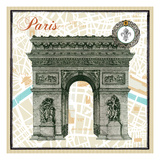 Monuments des Paris Arc Premium Giclee Print by Sue Schlabach