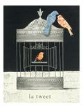 La Tweet Premium Giclee Print by Emily Adams