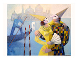 Les Masques Premium Giclee Print by Roger Burgi