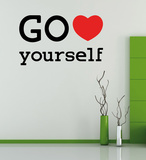 Go Love Yourself - Medium Väggdekal