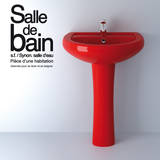 Salle de Bain - Small Wall Decal