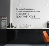 Gourmandise - Medium Autocollant mural