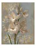 Gladiola on Soft Blue Art by Silvia Vassileva