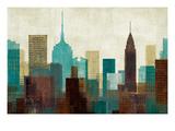 Mo Mullan - Summer in the City I Blue - Reprodüksiyon