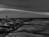 On the Rocks Bw Photographic Print by Josh Adamski