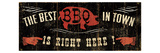 The Best BBQ in Town Giclee Print by Pela Studio