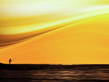 Fishing at Sunset Photographic Print by Josh Adamski