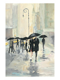 City in the Rain Giclee Print by Avery Tillmon