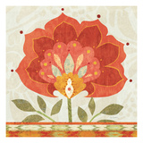 Ikat Bloom I Giclee Print by Sue Schlabach