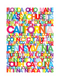 United States USA Text Bus Blind Premium Giclee Print by Michael Tompsett