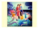 Le Repos Des Musiciens Premium Giclee Print by Roger Burgi