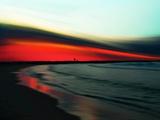 Red Ripple Photographic Print by Josh Adamski