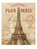 Letter from Paris Giclee-tryk i høj kvalitet af Hugo Wild