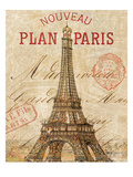 Letter from Paris Giclee Print by Wild Apple Portfolio