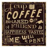 Coffee Quote I Premium Giclee Print by  Pela