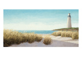 Lighthouse by the Sea Premium Giclee Print by James Wiens