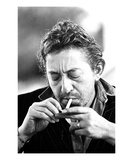 Serge Gainsbourg Giclee-tryk i høj kvalitet af Patrick Mesner