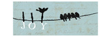 Birds on a Wire Reproduction proc&#233;d&#233; gicl&#233;e par Alain Pelletier
