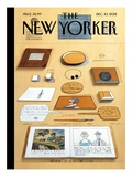 The New Yorker Cover - December 10, 2012 Premium Giclee Print by Saul Steinberg