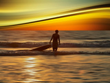 Sunset Surfer Photographic Print by Josh Adamski
