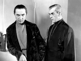 The Black Cat, Bela Lugosi, Boris Karloff, 1934 Photo