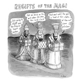 Regifts of the Magi features the three kings in the desert bringing lousy … - New Yorker Cartoon Premium Giclee Print by Roz Chast