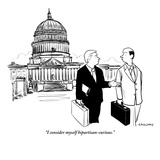 """I consider myself bipartisan-curious."" - New Yorker Cartoon Premium Giclee Print by Alex Gregory"