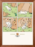 Le Temple de Soleil: Snowy and the Lizard Affiches par Hergé (Georges Rémi)