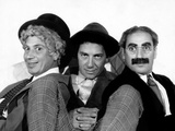 The Marx Brothers (From Left): Harpo Marx, Chico Marx, Groucho Marx, ca. Mid-Late 1930s Photo