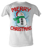 Snow Man - Merry Christmas T-Shirt