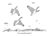 """Get a load of Baryshnikov!"" - New Yorker Cartoon Premium Giclee Print by Michael Crawford"