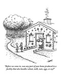 """Before we come in, was any part of your home produced in a facility that …"" - New Yorker Cartoon Premium Giclee Print by Tom Cheney"
