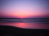 Pink Horizon Photographic Print by Josh Adamski