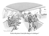 """Look at the picture I took of the thing we're looking at."" - New Yorker Cartoon Premium Giclee Print by Liam Walsh"