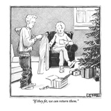 """""""If they fit, we can return them."""" - New Yorker Cartoon Premium Giclee Print by Matthew Diffee"""
