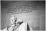 Abraham Lincoln Memorial b/w Posters