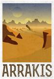 Arrakis Retro Travel Plakaty