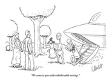 """We come to you with unbelievable savings."" - New Yorker Cartoon Premium Giclee Print by Eric Lewis"