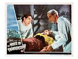 House of Frankenstein, From Left: J. Carrol Naish, Elena Verdugo, Boris Karloff, 1944 Photo