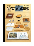 The New Yorker Cover - December 10, 2012 Impresso gicle por Saul Steinberg