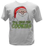 Youth: Santa - Will Work For Cookies T-Shirt