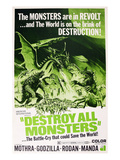 Destroy All Monsters, (AKA &#39;Kaiju Soshingeki&#39;, the Original Japanese Title), 1968 Poster