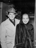 Ronald Reagan and Wife Jane Wyman Make an Arrival Via Train, February 46 Photo